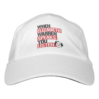 When Elizabeth Warren Speaks, You Listen --  Hat