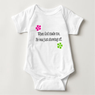 When God Made Me Baby Bodysuit