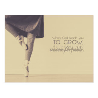 When God wants you to grow Postcard