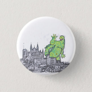 When Godzilla went of Majorca 3 Cm Round Badge