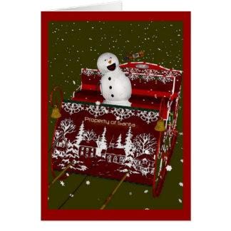 When Good Snowmen Go Bad Christmas Greeting Cards