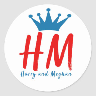 When Harry met Meghan Classic Round Sticker