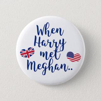 When Harry met Meghan | Fun Royal Wedding 6 Cm Round Badge