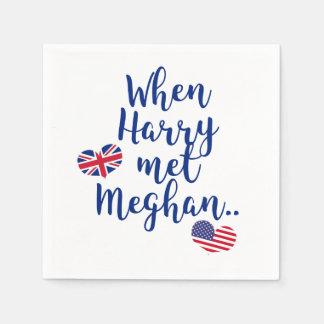 When Harry met Meghan | Fun Royal Wedding Disposable Serviette