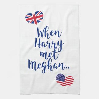 When Harry met Meghan | Fun Royal Wedding Tea Towel