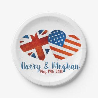 When Harry met Meghan Paper Plate