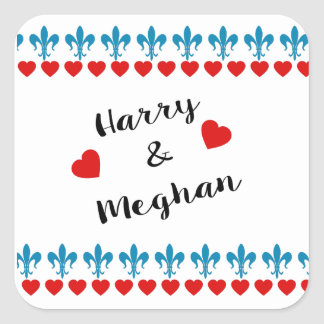 When Harry met Meghan Square Sticker