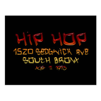 When Hip Hop Was Born Postcard