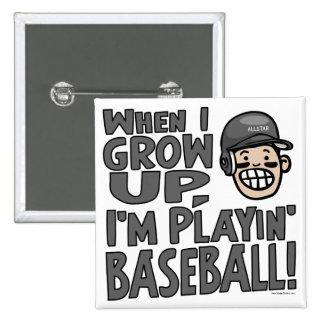 When I Grow Up I m Playing Baseball Black Helmet Pins