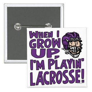 When I Grow Up I m Playing Lacrosse Purple Helmet Buttons