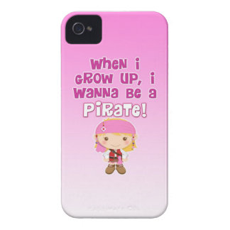 When I Grow Up, I Wanna Be a Pirate Case-Mate iPhone 4 Cases
