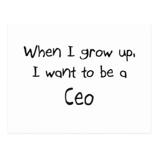 When I grow up I want to be a Ceo Post Card