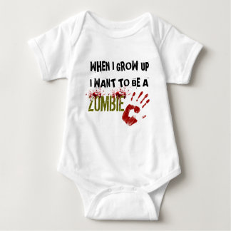 WHEN I GROW UP I WANT TO BE A ZOMBIE -creeper Baby Bodysuit