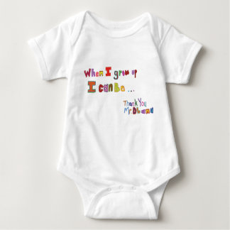 When I grow up Obama Kids Baby Bodysuit