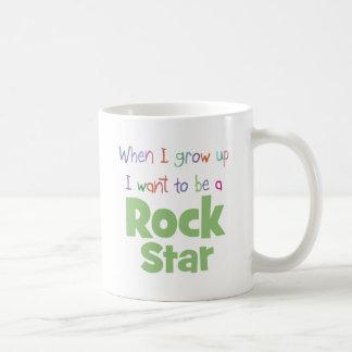 When I Grow Up Rock Star Basic White Mug