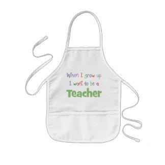 When I Grow Up Teacher Kids Apron