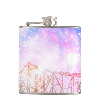 When I Look to the Sky Hip Flask