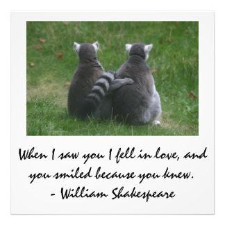 When I saw you I fell in love - Lemur love Photo
