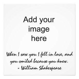 When I saw you I fell in love - Wall Art Photo Print
