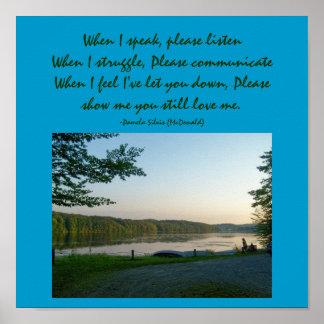 When I speak, please listen...Poem Poster
