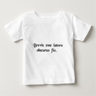 When I try to be brief, I babble incoherently. Baby T-Shirt