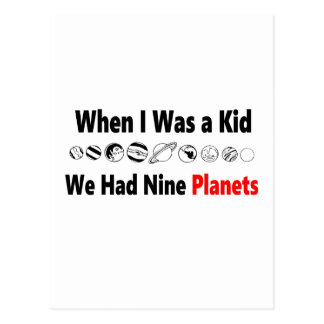 when i was kid we had nine planets postcard