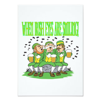 When Irish Eyes Are Smiling 13 Cm X 18 Cm Invitation Card