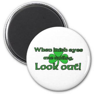 When Irish Eyes Are Smiling 6 Cm Round Magnet