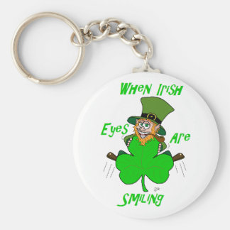 When Irish Eyes are Smiling Basic Round Button Key Ring