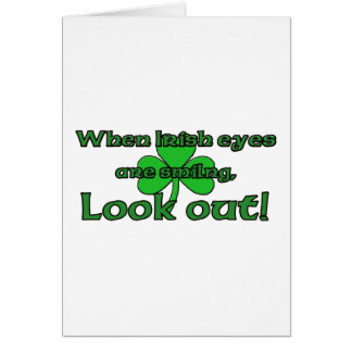 When Irish Eyes Are Smiling Cards