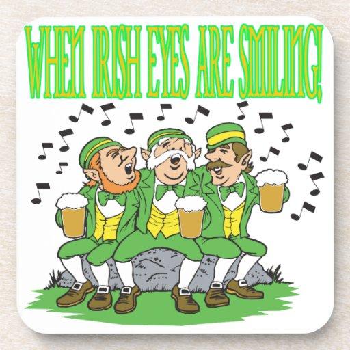 When Irish Eyes Are Smiling Beverage Coasters