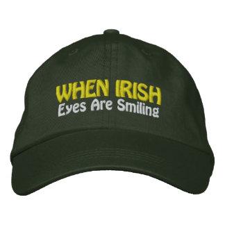 When Irish Eyes Are Smiling - CUSTOMIZABLE! Embroidered Baseball Cap