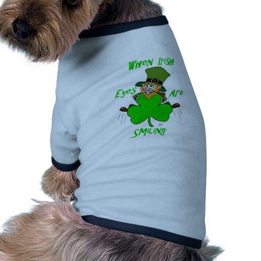 When Irish Eyes are Smiling Doggie T Shirt