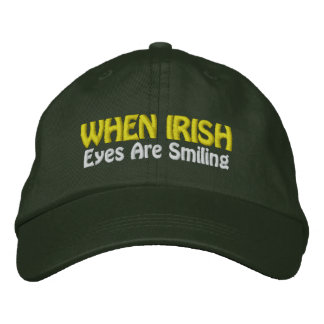 When Irish Eyes Are Smiling Embroidered Hats