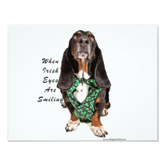 "When Irish Eyes are Smiling 4.25"" X 5.5"" Invitation Card"