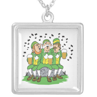 When Irish Eyes Are Smiling Square Pendant Necklace