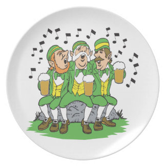 When Irish Eyes Are Smiling Party Plate