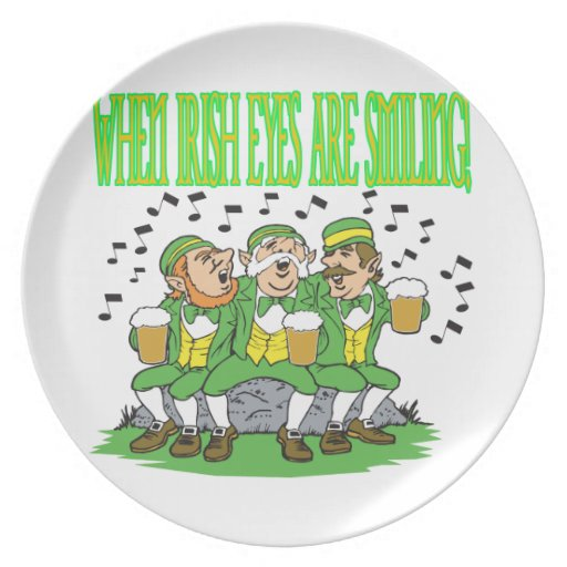 When Irish Eyes Are Smiling Dinner Plate