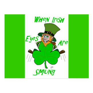 When Irish Eyes are Smiling Postcard
