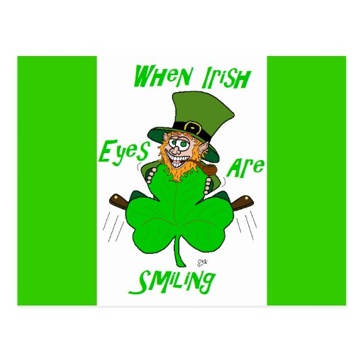 When Irish Eyes are Smiling Post Card