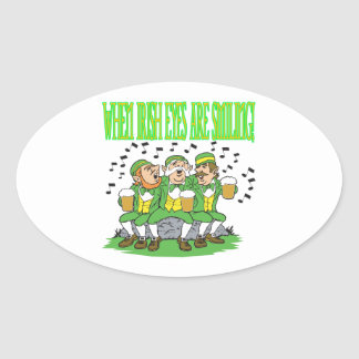 When Irish Eyes Are Smiling Oval Sticker