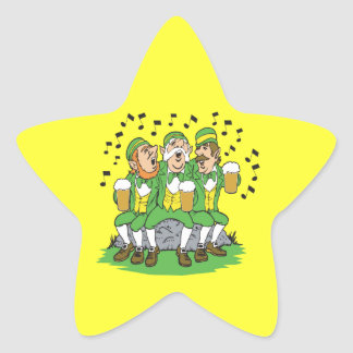 When Irish Eyes Are Smiling Star Sticker