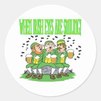 When Irish Eyes Are Smiling Round Sticker