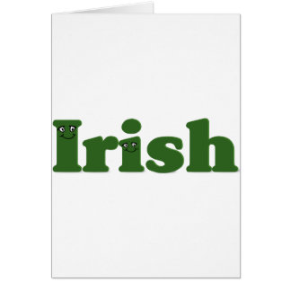 When Irish (i)es Are Smiling Greeting Card