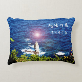 When it is the evening sun with the Oki island, Decorative Cushion