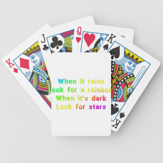When it rains. bicycle playing cards