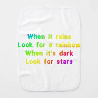 When it rains. burp cloth