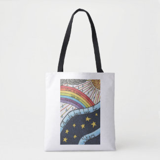 When it rains look for rainbows tote bag