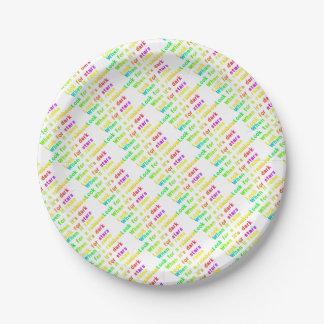 When it rains. paper plate