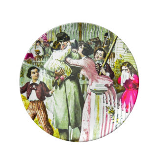 When Johnny Comes Marching Home Civil War Porcelain Plates